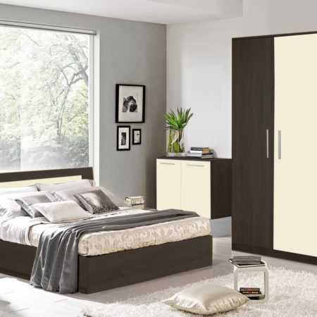 Dormitor Sonoma Wenge, pat 140×200 cm