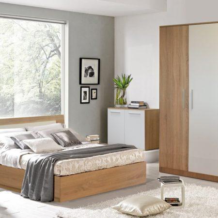Dormitor Sonoma, Stejar Bardolino, Dulap in 3 usi