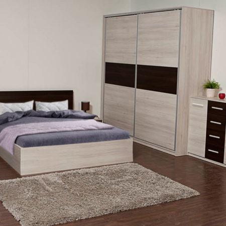 Dormitor Scarlet, Stejar Ferrara / Wenge
