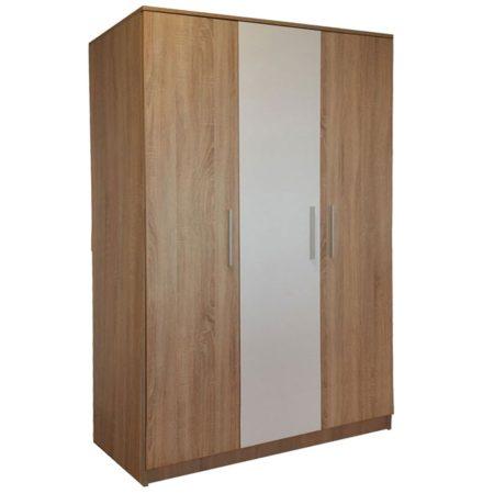 Dulap Sonoma, Bardolino si Alb, 135x200x50 cm