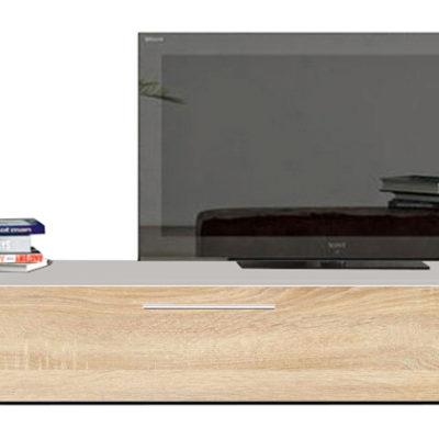 Modul living ,120 cm Alb/ usa Sonoma