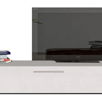Modul living ,120 cm Alb/ usa Alb