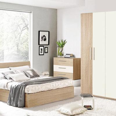 Dormitor Mondo, Dulap in 4 Usi, H 220 cm