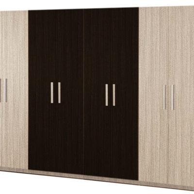 Dulap Mondo 8U, Ferrara/Wenge, 220x320x50 cm