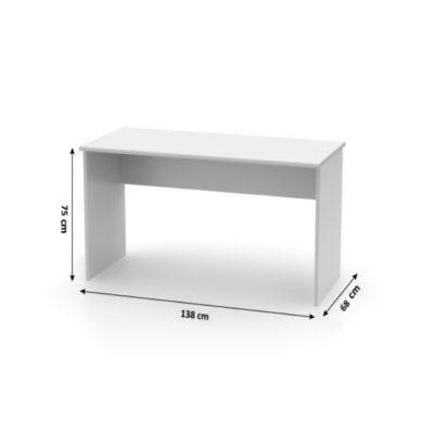 Birou Office Mondo Alb, 138x65x75 cm