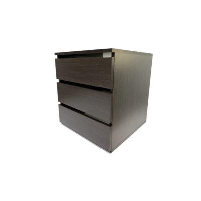 Modul cu 3 sertare, Wenge, 50x50xh59 cm