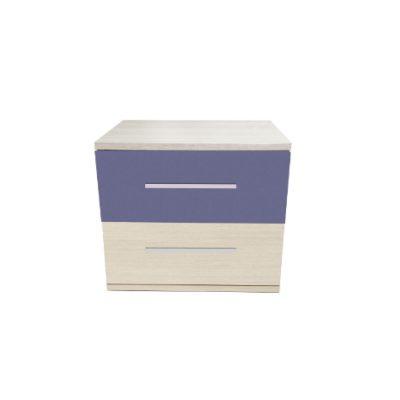 Noptiera Alegria cu 2 sertare, Ferrara / Violet
